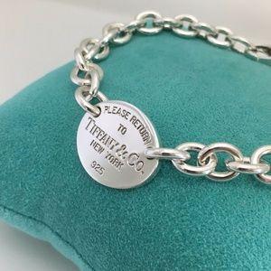Return to Tiffany Oval Tag Charm Bracelet